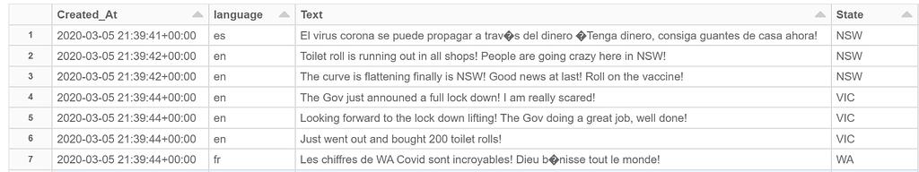 COVID19 Tweet dataset Result