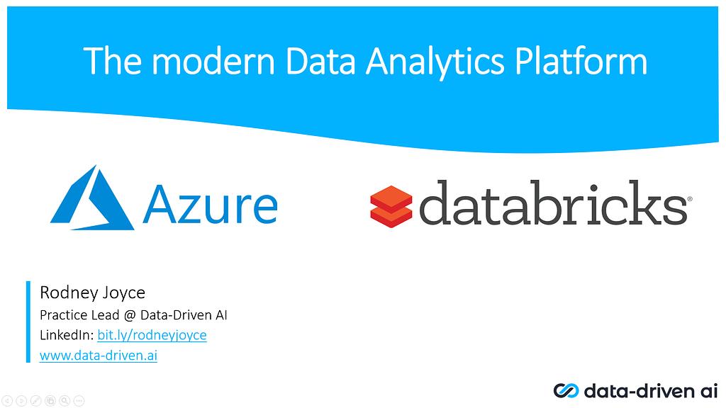 Modern Data Platform with Azure and Databricks